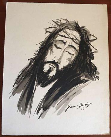 Oportunidade Pintura Rara Cristo Pintor Gama Diniz