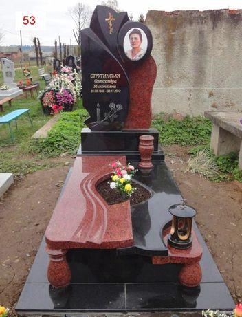 Гранитные памятники Кривой Рог. Укладка плитки на кладбище