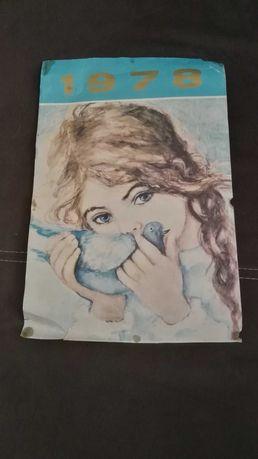 Obrazek dzieci, kartka z kalendarza 1978 Danuta Muszyńska Zamorska