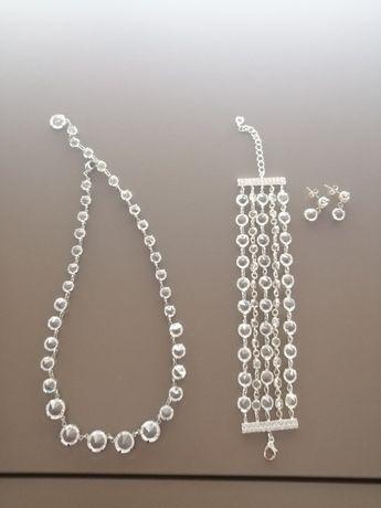 Zestaw biżuteri ślubnej