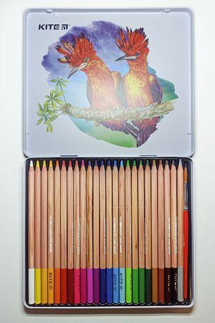 Карандаши акварельные, цветные, акварельні олівці, олівці кольоров