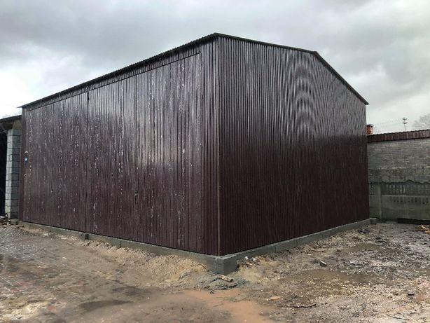 HALA BLASZANA magazyn kolor BRĄZ konstrukcja PROFIL wiata garaż blasza