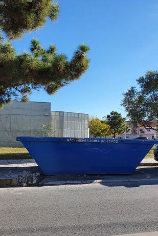ALMADA contentores de 6m³ para entulho de obras e resíduos urbanos