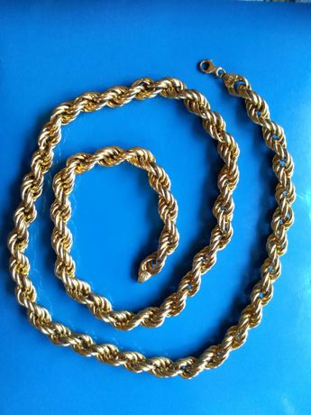 Złoty łańcuszek próby 585 długość 95 cm waga 58 gram!