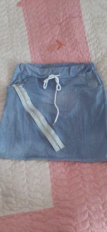 Spódnica bawełniana kolor jeans