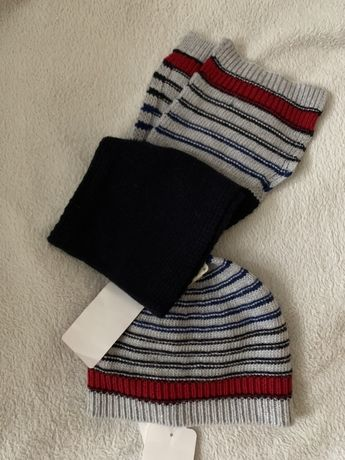 Детский комплект, шапка и шарф chicco, 18мес-2 года