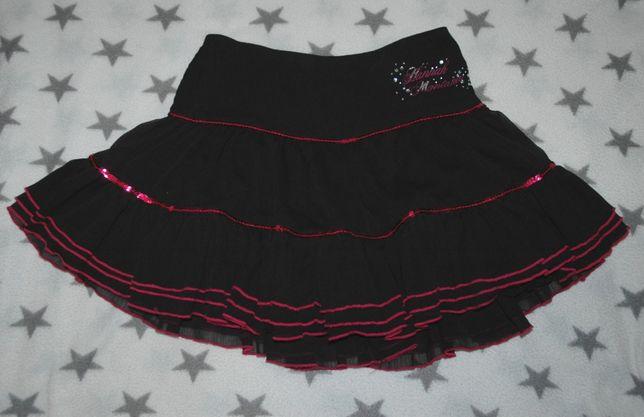 Черная юбка с паетками на подростка