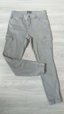 Nowe spodnie bojówki szare M