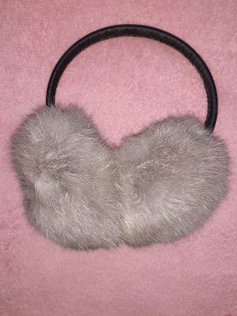 Наушники меховые навушники зимові хутряні натуральний мєх