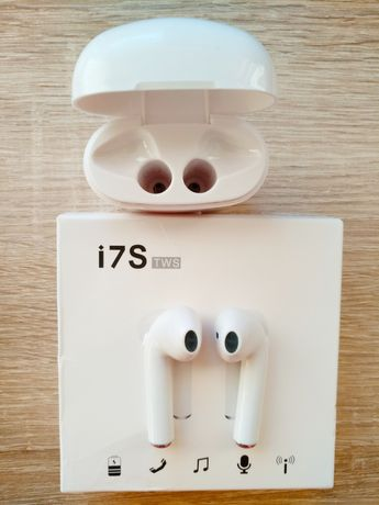 Słuchawki bezprzewodowe Bluetooth ze stacją ładująca NOWE z PUDEŁKIEM