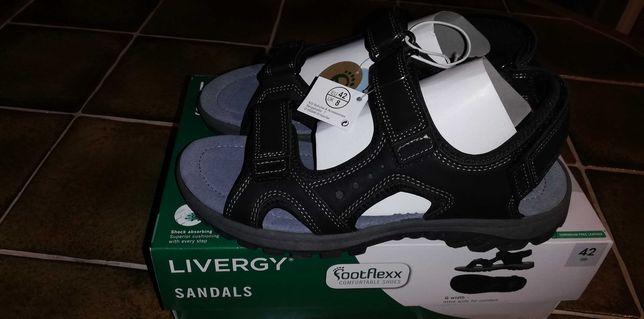 Okazja nowe sandały męskie czarne rozmiar 42.
