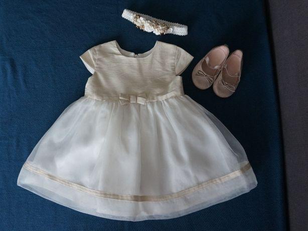 Zestaw elegancka sukienka roczek/chrzciny