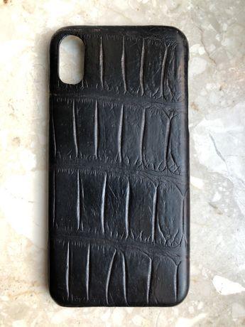 Etui ze skóry aligatora iPhone X / Xs