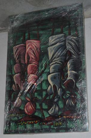 Tela Africana –Kitandeiras(Vendedoras de Rua ou de Mercado)-0,69x1,07