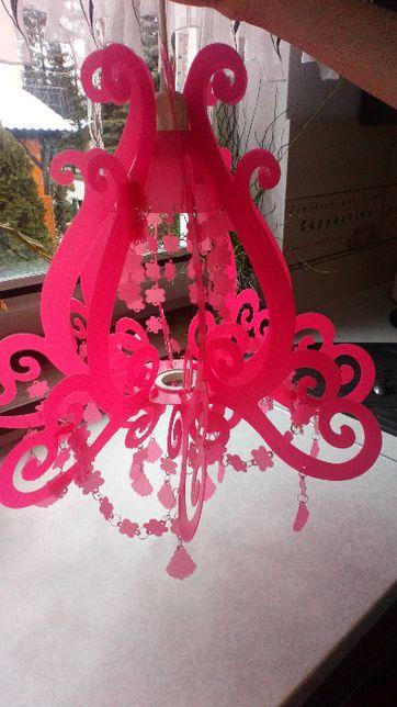 Lampa wisząca INKA różowa