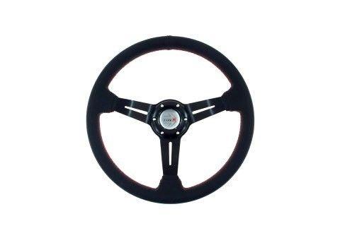 Kierownica Pro 350Mm Offset:60Mm Skóra Black