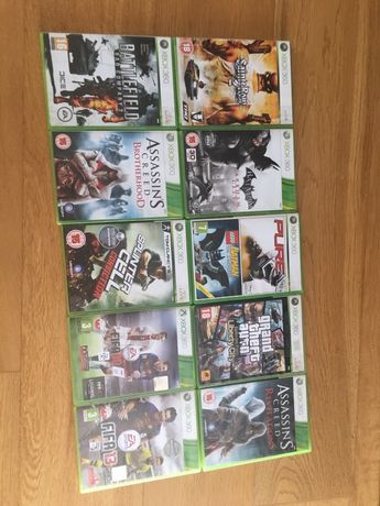 Zestaw 10 gier na Xbox 360