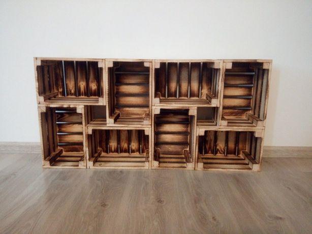 Skrzynka ozdobna, drewniana 30x20x17 na owoce meble półki Opalana
