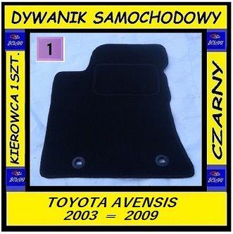 DYWANIK Welurowy TOYOTA AVENSIS II - 1 sztuka (od kierowcy)