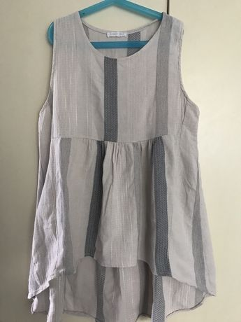 Bawełniano- lniana bluzka