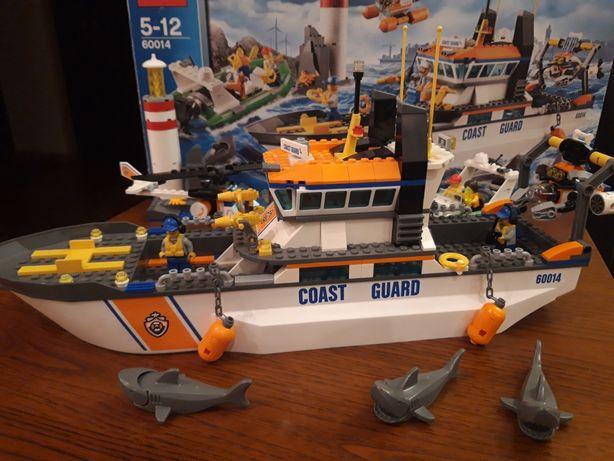 Лего оригинал Lego city большой набор патруль береговой охраны