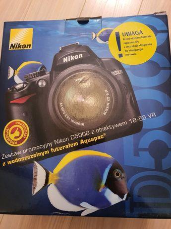 Aparat fotograficzny, lustrzanka Nikon D5000, mało używana