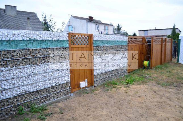 Ogrodzenie gabionowe z kamieni z kamieniami nowoczesne gabion gabon