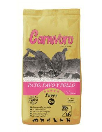 Ração Cachorro sem Cereais Carnivoro Puppy Pato Peru Frango 15Kg