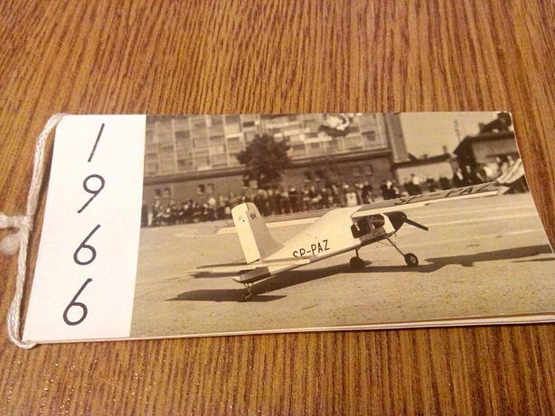 Życzenia od Aeroklubu Szczecińskiego dla lotników z 1966 r.