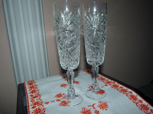 Весільні келихи. Свадебные бокалы. Бакали на весілля кришталеві, нові.