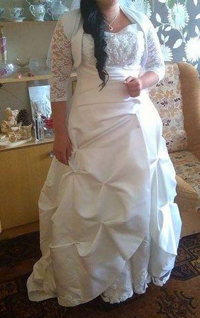Suknia ślubna z trenem + welon gratis