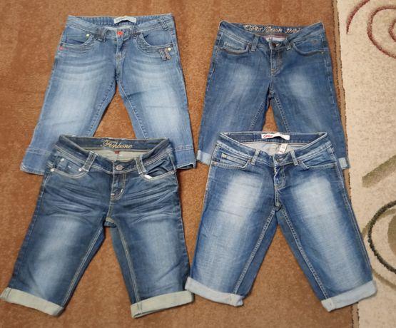 Zestaw rybaczek jeansowych damskich rozmiar S
