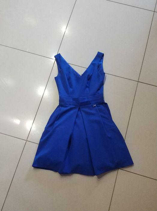 Sukienka chabrowa na bale/uroczystości rozmiar XS Silno - image 1