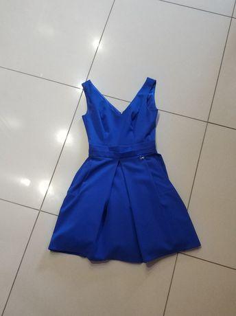 Sukienka chabrowa na bale/uroczystości rozmiar XS