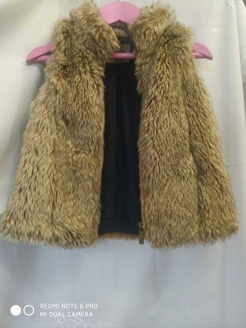 Меховая жилетка Zara на 3-4-5 года/98-104см
