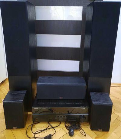 kino domowe amplituner Yamaha HTR 3064+kolumny Prism 5.1