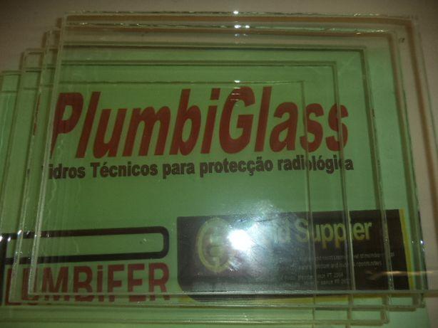 Chumbo -Vidro chumbinio ou plumbífero para proteção radiologica