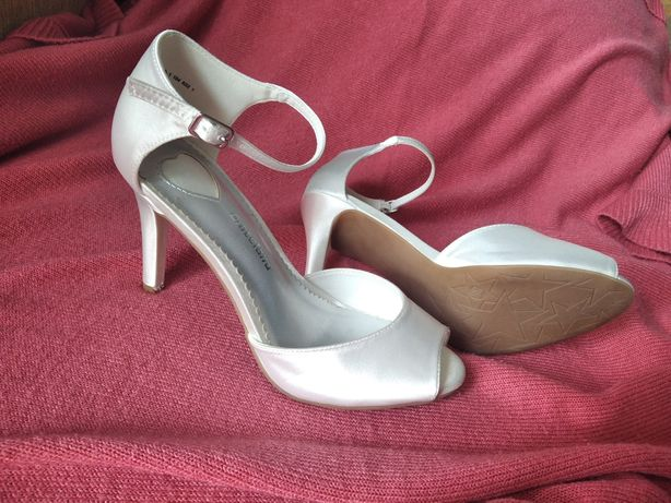Buty szpilki białe ślub, wesele 38