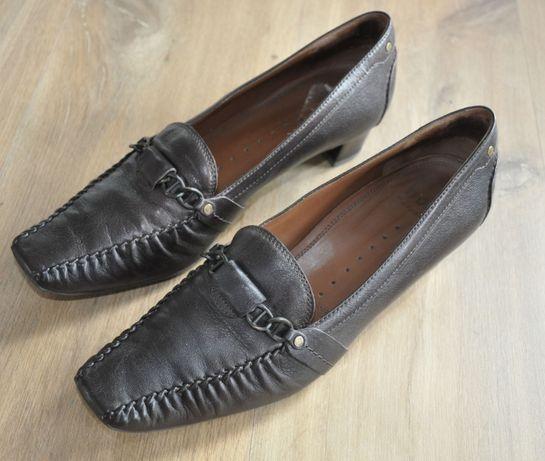 Półbuty HOGL R.40,5 skórzane czółenka, pantofle, buty