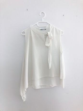 Asymetryczna bluzka koszulowa 38 M