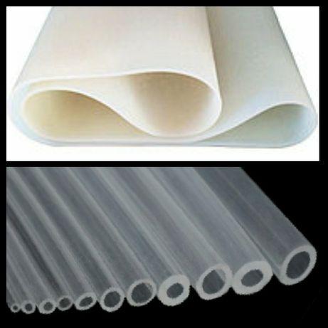трубки (шланги) и пластины силиконовые, пищевые, разные  размеры