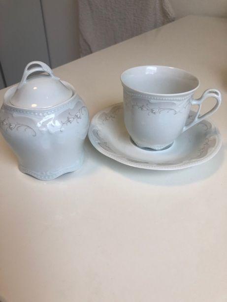 Чайный набор из тонкого фарфора. Tettau. Германия
