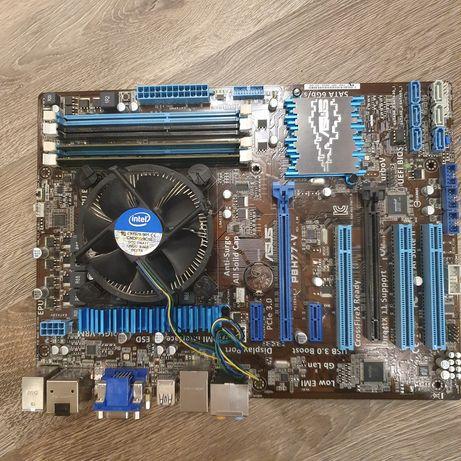 Комплект:  Материнская Asus P8H77-V  Процессор Intel i5-3550  ОЗУ 8Gb