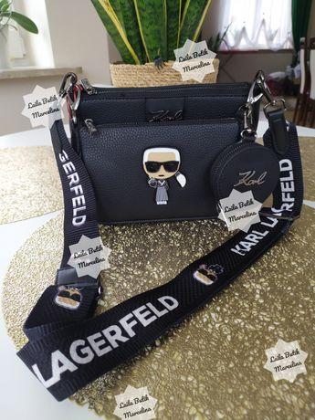 Torebka damska listonoszka Karl Lagerfeld Multipochette Premium skóra