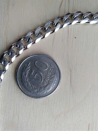 Łańcuszek męski pancerka srebro 925  38g 60cm 5mm