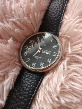Zegarek Perfect, datownik, skórzany pasek