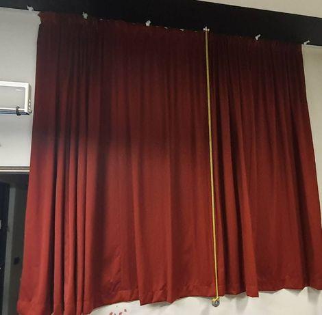 zasłona do salonu 470cmx245cm (7 mb tkaniny)