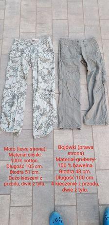 Bojówki, spodnie z kieszeniami.