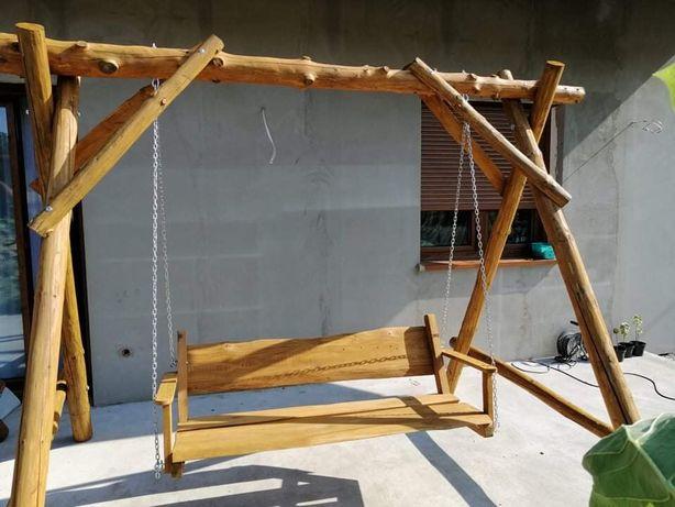 Hustawka drewniana z bali meble ogrodowe