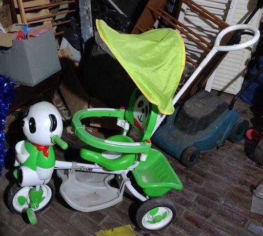 Rowerek trójkolołowy Panda plus jeździk